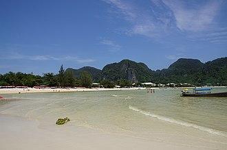 Phi Phi Islands - Image: Phiphi islands beach