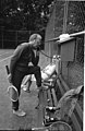 Photograph of President Gerald Ford and His Daughter Susan on the Tennis Court at Camp David - NARA - 7330152.jpg