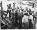 Photograph taken during the vacation cruise of President Harry S. Truman to Bermuda. President Truman meets the press... - NARA - 198641.tif