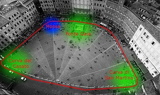 Piazza del Campo di Siena - Pista del Palio