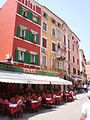 Picturesque town houses with pizzeria.JPG