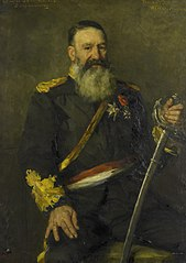 Portrait of Petrus Jacobus Joubert - Commander-General of the South African Republic