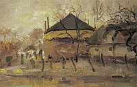 Piet Mondriaan - Barn and haystack behind row of willows - A320 - Piet Mondrian, catalogue raisonné.jpg