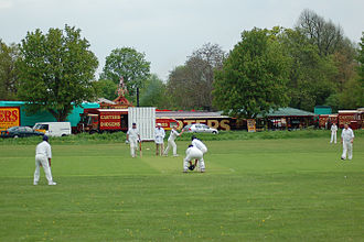 Pinkneys Green - Steam and Cricket in May 2006