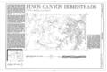 Pinon Canyon, Purgatoire River Area, Model, Las Animas County, CO HABS COLO,36-MOD.V,6- (sheet 1 of 1).png
