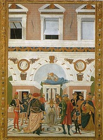 Miracles of St Bernardino - Image: Pinturicchio, san bernardino guarisce un cieco