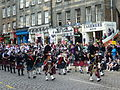 Pipe band in the Lawnmarket, Edinburgh.jpg