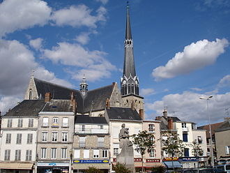Pithiviers - The Place du Martroi, in Pithiviers
