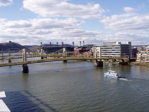 Rachel Carson Bridge - Rachel Carson Bridge as seen from the roof of the David L. Lawrence Convention Center