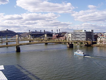 English: Pittsburgh Ninth Street Bridge, now R...