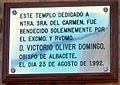 Placa inauguración Iglesia Carmen Molinicos.JPG