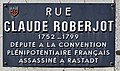 Plaque Rue Claude Roberjot - Mâcon (FR71) - 2021-03-01 - 1.jpg