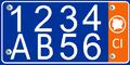 Plaque d'immatriculation Cote d'ivoire-Vehicle Privee-2.png