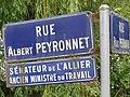 Plaque de rue Albert Peyronnet, Bellerive-sur-Allier .jpg