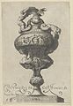 Plate 6- Vase or Ewer with a Frieze Containing Naked Figures, Supported Below by Two Female Sphinxes, from Antique Vases (Vasa a Polydoro Caravagino) MET DP837055.jpg