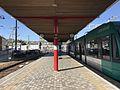 Platform of Hiroden-Miyajimaguchi Station.jpg