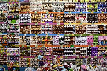 A plush toys shop in Mexico City.