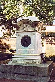 Edgar Allan Poe's grave, Baltimore, MD.