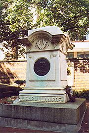 Edgar Allan Poe is buried in Baltimore, Maryland. The circumstances and cause of his death remain uncertain.