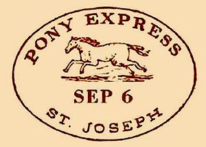 Postmark - One of several types of postmarks found on Pony Express mail.