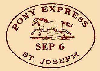 Pony Express - Pony Express Postmark, 1860, westbound