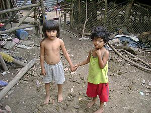 Picture of siblings living in extreme poverty ...
