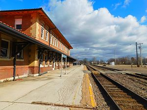 Poplar Bluff station - The Poplar Bluff station in January 2017.