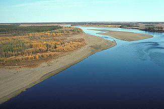 Porcupine River im Yukon Flats National Wildlife Refuge