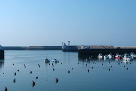 Port-en-Bessin-Huppain, Calvados, Port of the city.JPG