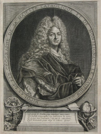 Nicolas de Fer - Engraving of Nicolas de Fer by Jaques-François Bénard