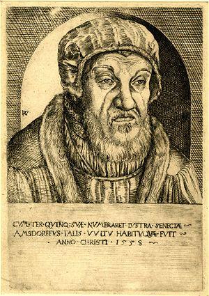 Nicolaus von Amsdorf - Nikolaus von Amsdorf, 1558 etching by Peter Gottlandt.
