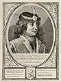Portret van Dirk III, graaf van Holland, in een harnas. Hij draagt een met veren en edelstenen versierde hoofdtooi. NL-HlmNHA 1477 53012897.JPG