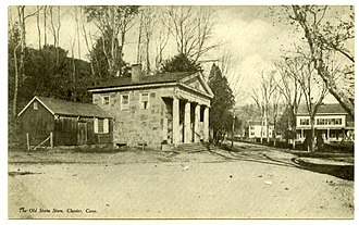 Chester, Connecticut - Image: Postcard Old Stone Store Chester CT1901to 1907