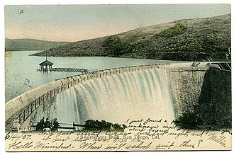 Sweetwater Dam - Postcard of the dam circa 1907