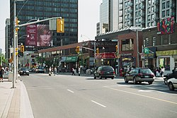 Yonge Street north of St. Clair Avenue in Deer Park