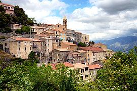 Vido de la vilaĝo de Prato-di-Giovellina