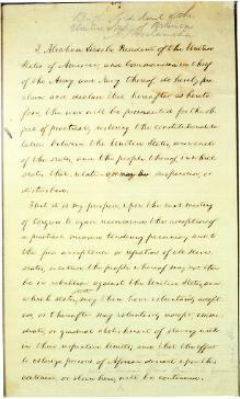 Preliminary Emancipation Proclamation (22 September 1862 draft).djvu