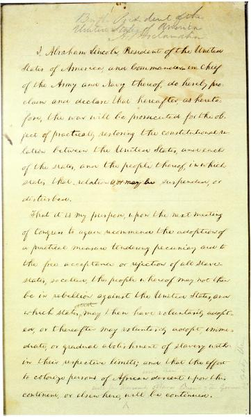 File:Preliminary Emancipation Proclamation (22 September 1862 draft).djvu