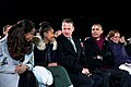 President Barack Obama, seated with daughters Malia and Sasha, Tom Hanks and Marian Robinson, attends the National Christmas Tree lighting ceremony on the Ellipse in Washington, D.C..jpg