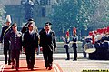 "President Joseph ""Erap"" Ejercito Estrada, accompanied by his host, Chilean President Eduardo Frei, reviews the honor guards during formal welcome ceremonies held Thursday at the Plaza dela Constitucion in Santiago City, Chile.jpg"
