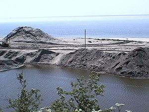 Amber Coast - Open-pit mining near Jantarny (Sambia Peninsula, Kaliningrad Oblast, Russia)
