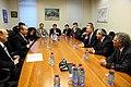 Prime Minister Benjamin Netanyahu and Minster of Industry and Trade Naftali Bennett,President Shimon Perez (8719470893).jpg