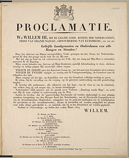 Proclamation official declaration