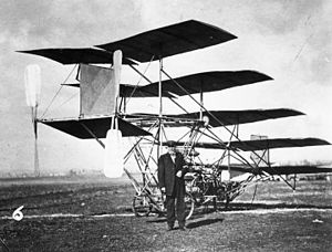 1910 Los Angeles International Air Meet at Dominguez Field - Jerome Slough Zerbe's Multi-plane