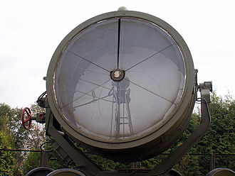 Western Air Defense Front - An anti-aircraft searchlight of the type used by the searchlight units of the front
