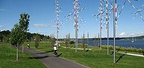 The Samuel de Champlain promenade in July 2008