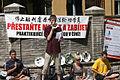 Protest, Prague, Chinese ambasade, Stop The persecution of Falun Gong.jpg