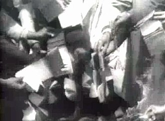 Sharpeville massacre - Demonstrators discarding their passbooks to protest apartheid, 1960