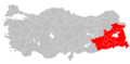 Provinces of Turkey with Kurdish majorities highlighted.png