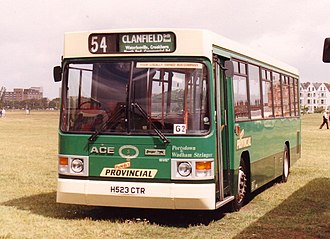 ACE Cougar - The Wadham Stringer bodied ACE Cougar in People's Provincial livery in June 1991